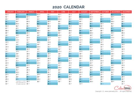 yearly calendar year yearly horizontal planning calenwebcom