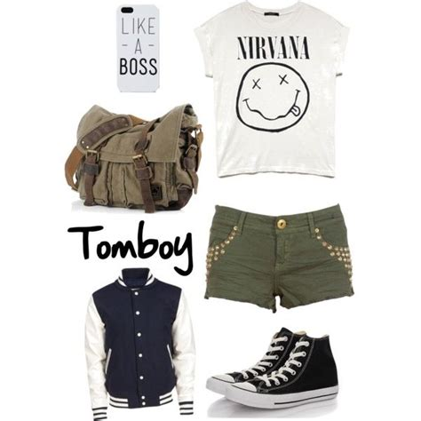 Tomboy Outfit by joceabb135 on Polyvore featuring Forever 21 Au00c3u00a9ropostale and Converse ...