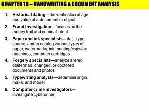 1 forensic science questioned documents documentation With questioned documents analysis