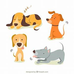Cute illustrations of dogs Vector   Free Download
