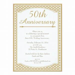 50th wedding anniversary invitation zazzle With 50th wedding anniversary invitation wording