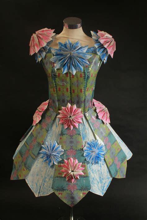 paper dress recycled dress fashion newspaper dress