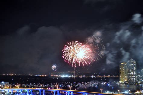years eve fireworks  miami  ring