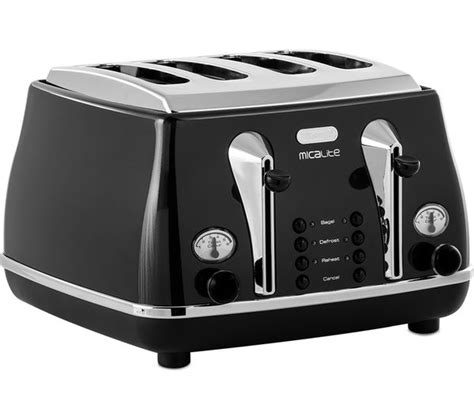 Delonghi 4 Slice Toaster by Buy Delonghi Micalite Ctom4003 4 Slice Toaster Black
