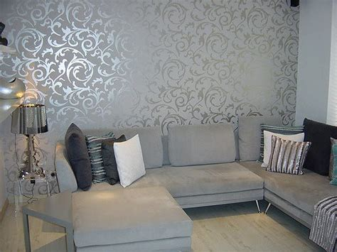 Graue Tapeten Wohnzimmer by Grey Wallpaper Living Room Post On Brunch At