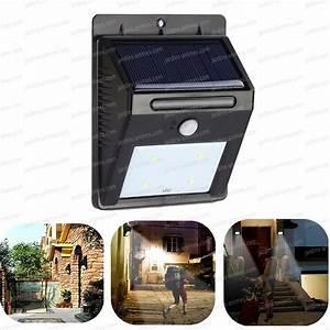 Spot Detecteur De Mouvement : spot solaire 4 leds d tecteur de mouvement eclairage ~ Dailycaller-alerts.com Idées de Décoration