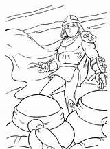 Coloring Pages Shredder Tmnt Splinter Michelangelo Template Coloringtop sketch template