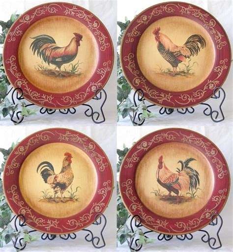 Decorative Chicken Plates - 17 best ideas about rooster plates on