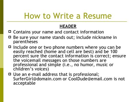 writing an eye catching resume