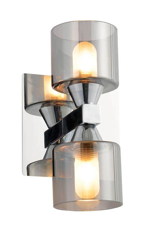 Bathroom Wall Lights B Q by Cobark Clear Smoked Effect Bathroom Wall Light