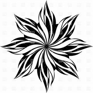 Flower pattern with decorative petals Vector Clipart Image ...