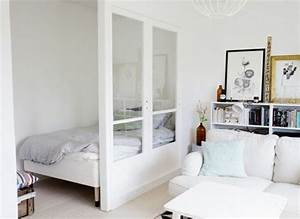 revgercom idee deco petit espace idee inspirante pour With comment meubler un studio 5 facons damenager studio 45 idees interessantes