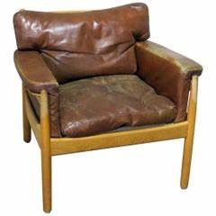 Pair of Large-Scale Chesterfield Club Chairs with ...
