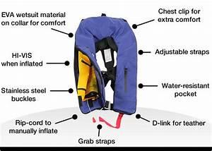 Adult Life Jacket Inflatable Pfd1 Type 1 Yoke Lifejackets