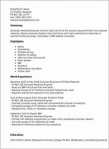Summary Example For Resume Professional Computer Hardware Engineer Templates To