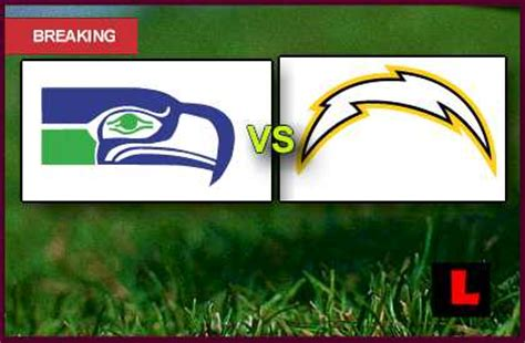 seahawks  chargers  debuts nfl channel thursday
