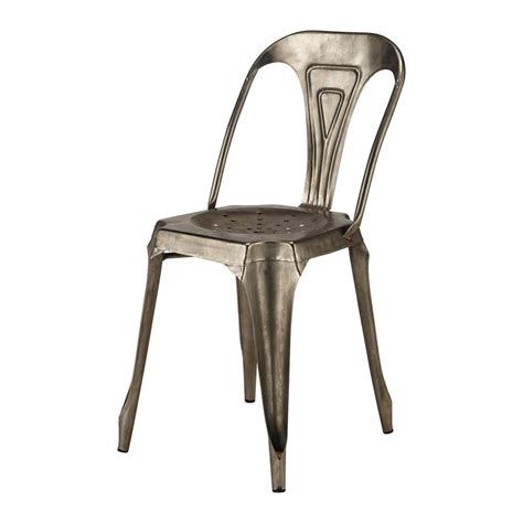 chaise industrielle maison du monde chaise indus en métal grise multipl 39 s maisons du monde