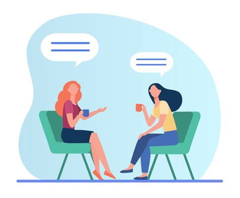 4,000+ vectors, stock photos & psd files. Free Vector | Women talking over cup of coffee. female friends meeting in coffee shop, chat ...