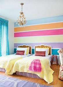 Ideen Für Kinderzimmer Wandgestaltung : kinderzimmer streichen idee design tafel bunt streifen ~ Lizthompson.info Haus und Dekorationen