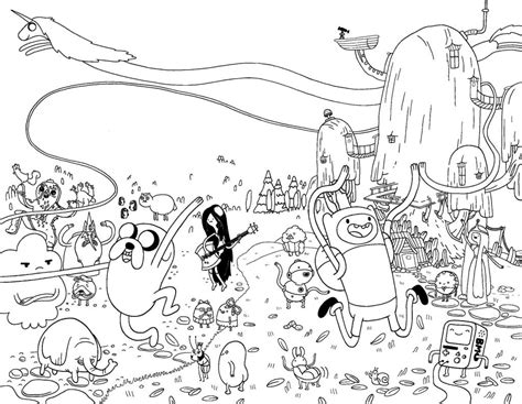 Coloring Time by Adventure Time Coloring Pages Best Coloring Pages For