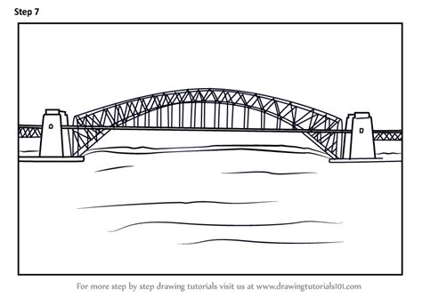 Step by Step How to Draw Sydney Harbour Bridge ...