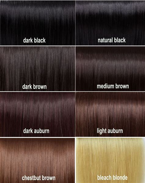 Hair Color Chart Brown Best Hair Color For Natural Black