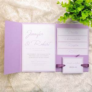 cheap simple lavender pocket wedding invitations ewpi124 With wedding invitations with pockets cheap