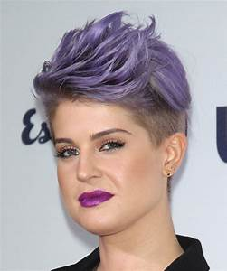 Kelly Osbourne Hairstyle - Short Straight Formal - Purple