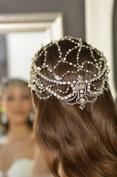 Wedding Veils Hair Accessories by Exquisite Designs E788 Hera Wedding Headpiece