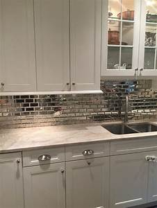 best 25 mirrored subway tiles ideas on pinterest small With kitchen colors with white cabinets with download love stickers