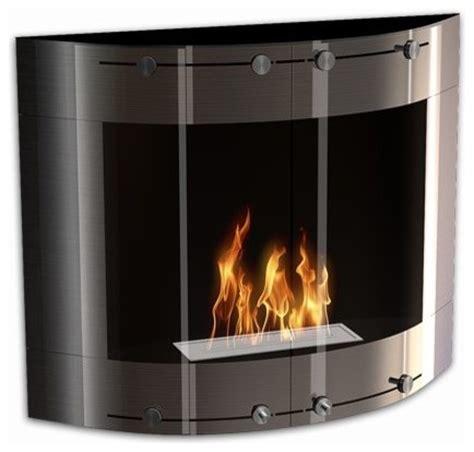 Indoor Biofuel Fireplace - arch modern ventless wall mounted ethanol fireplace