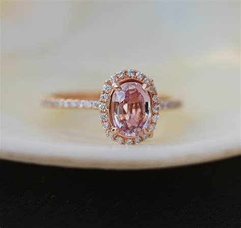 pink sapphire ring in 18k gold simple