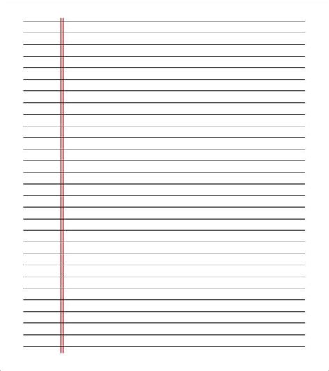 notebook paper template for word notebook paper template for word templates data
