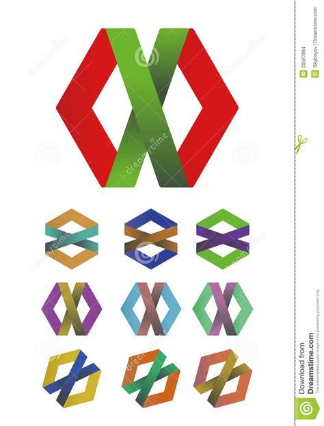 design cross ribbon logo element stock vector image 30587894