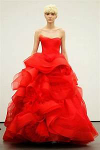 vera wangs red wedding dresses weddingbee With wedding dresses with red in them
