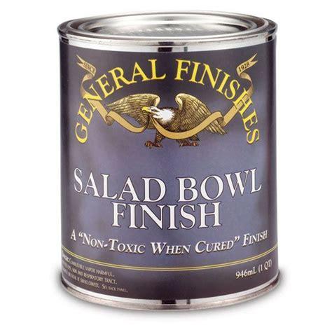 Salad Bowl Finish, Quart  Salad Bowls, General Finishes