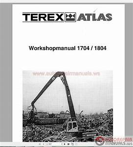 Terex Atlas 1704 1804 Excavator Service Manual