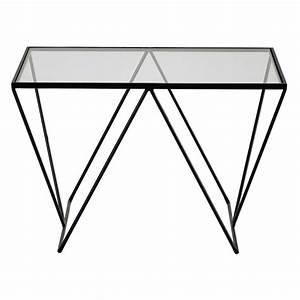 bout de canape en metal et verre l 60 cm archy maisons With tapis d entrée avec bout de canapé design verre