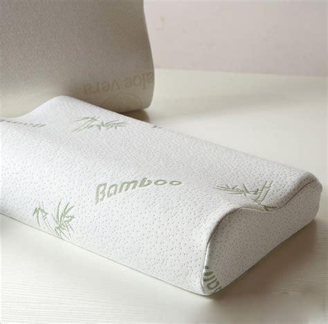 coussin memoire de forme bambou 1 2 oreillers m 233 moire forme fibre de bambou cervicale ergonomique coussin sant 233 ebay