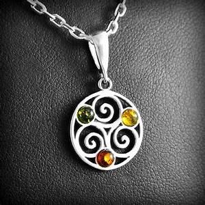 pendentif triskel ambre argent excalibur bijoux With bijoux en ambre