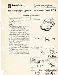 1965 Porsche 911 912 Becker Audio Owners Manual
