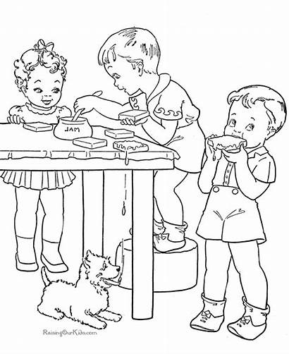 Pages Coloring Printable Cooking Colouring Animal Clipart