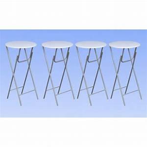 Table Haute Pliable : la boutique en ligne lot de 4 tables de bar ronde haute ~ Teatrodelosmanantiales.com Idées de Décoration