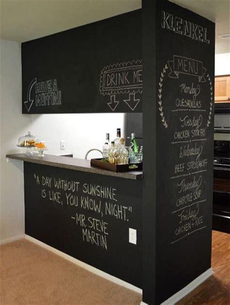 Chalkboard Kitchen Wall Ideas - rust oleum farba tablicowa alcor