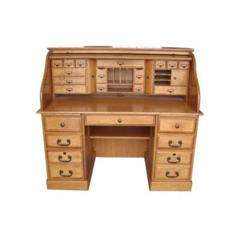 cheap roll top desk 54 in marlin deluxe roll top desk in harvest oak
