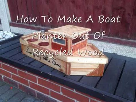 How To Build A Boat Planter how to build a boat planter out of recycled wood step by