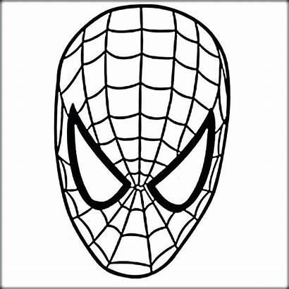Spiderman Mask Coloring Pages Drawing Face Spider