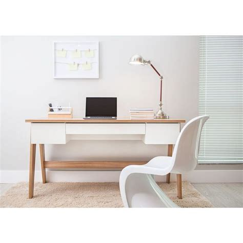 off white desk with drawers 470 trendline hanover off white 3 drawer home office
