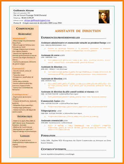 6 cv assistante de direction exemple lettre modeles cv assistante de
