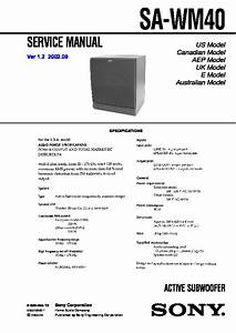 Sony Sa-wm40 Service Manual